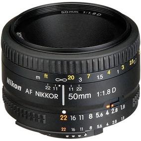 Lente Nikon 50mm Af F/1.8d Nikkor Garantia Pronta Entrega Nf