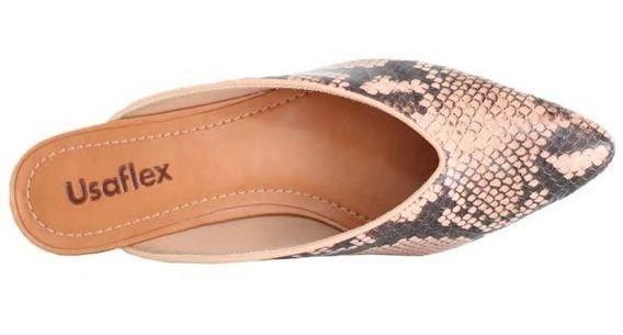 Mule Confort Usaflex Perola Promoção 6609