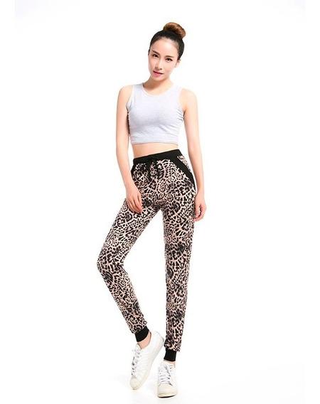 Pantalon Jogger Animal Print Talle L De Usa - 5193