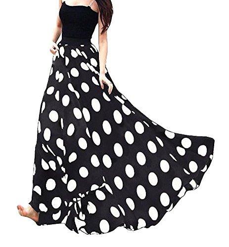 Afibi Falda De Gas Para Mujer Con Dobladillo Grande Y Cintur