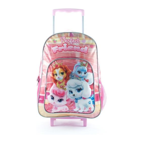 Mochila Carro Grande Disney Princesas Palace Pets Mundomania