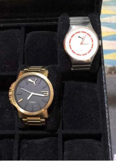 2 Relógios Da Puma Originais ( Dourado E Prata )
