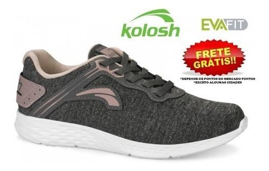 Tênis Kolosh K8350 Feminino Mescla Grey Original