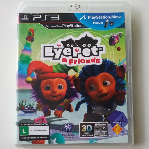 Eyepet And Friends Eye Pet Ps3 M. Física Perfeito (kit Move)