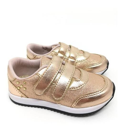 Tênis Infantil Sapato Menina Metalizado Sapatênis Feminino