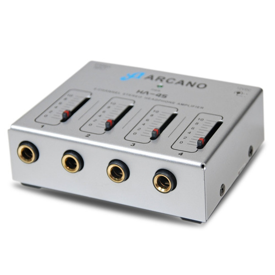 Compacto Amplificador De Fones Arcano Ha-4s P/ 4 Fones