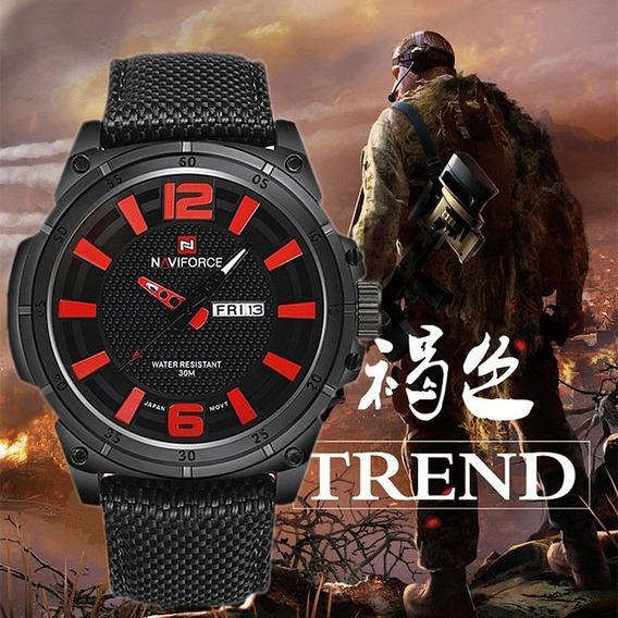 Naviforce Relógio De Luxo Militar Quartzo Dos Masc. Sports