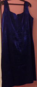Hermoso Vestido Para Cóctel-matrimonio Azul Con Bolero Txl