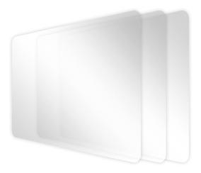 Kit 3 Películas De Plástico Para Tablet Ht 704 How