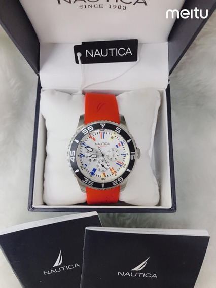 Relógio Nautica Cft7777 Chronograph N19509g Com Caixa