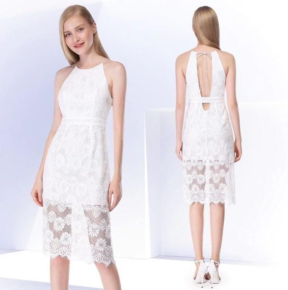 Vestido Blanco En Encaje