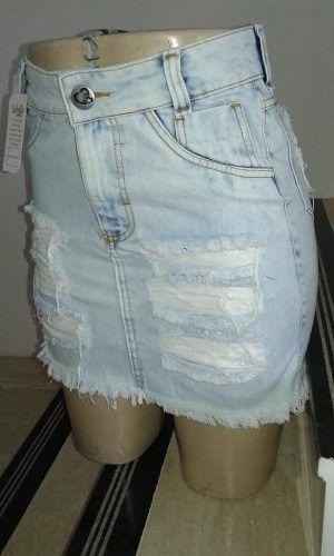 10 Saias Jeans Feminina Cintura Alta Hot Pant Super Luxo