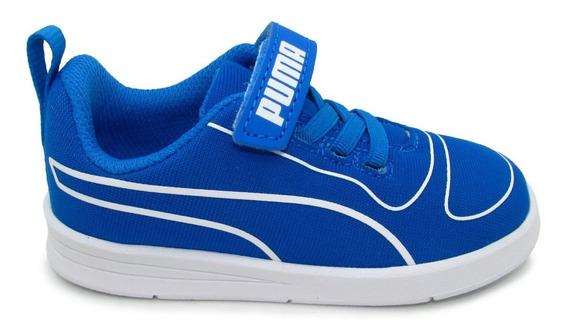 Tenis Puma Kali V Inf 367768 06 Indigo White Azul Kinderfit