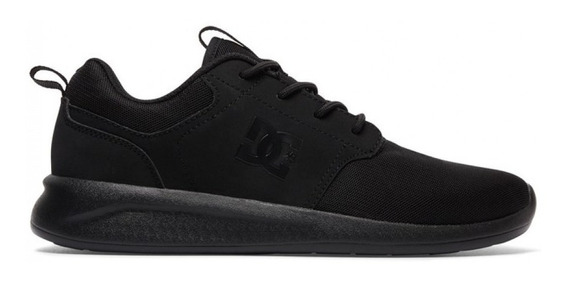 Dc Zapatillas Lifestyle Hombre Midway Sn Vn Negro