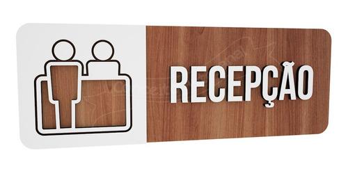 Imagem 1 de 3 de Placa Indicativa  Recepção Consultório Hospital Clinica Bar