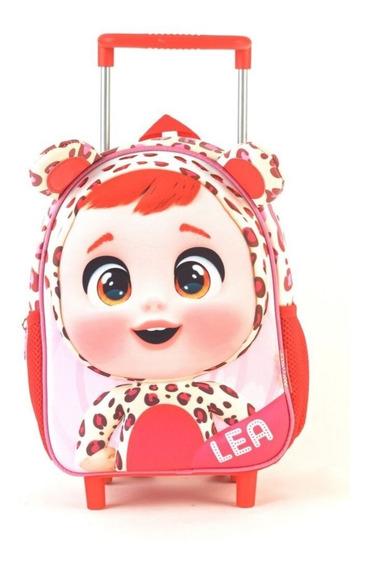 Mochila Cry Babies Lea 3d Con Carro 11