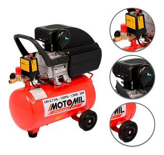 Compressor Ar 8,7 Pés 24l Bivolt Cmi Motomil
