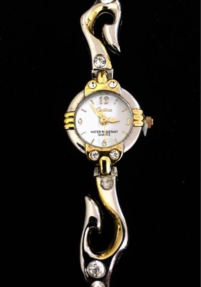 Relógio Feminino Cadina Branco Produto De Mostruário 012