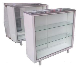 Vitrina Mostrador Metalico Exhibidor De Cristal