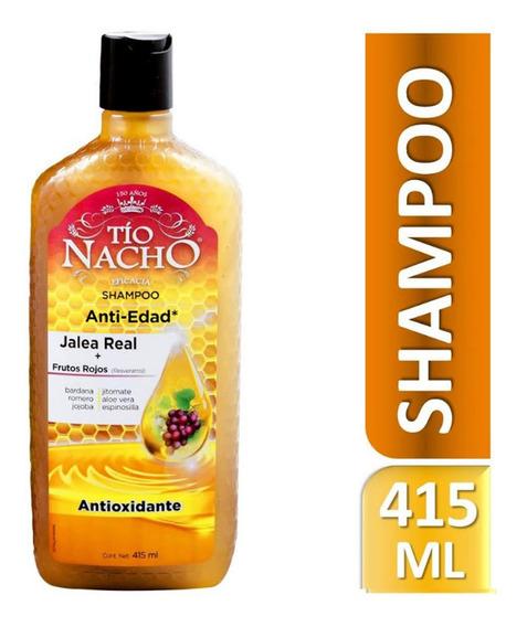 Shampoo Tío Nacho Frutos Rojos/resveratrol 415ml Genomma Lab