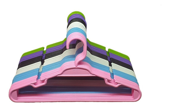 Cabide Colorido Infantil 50 Unidades