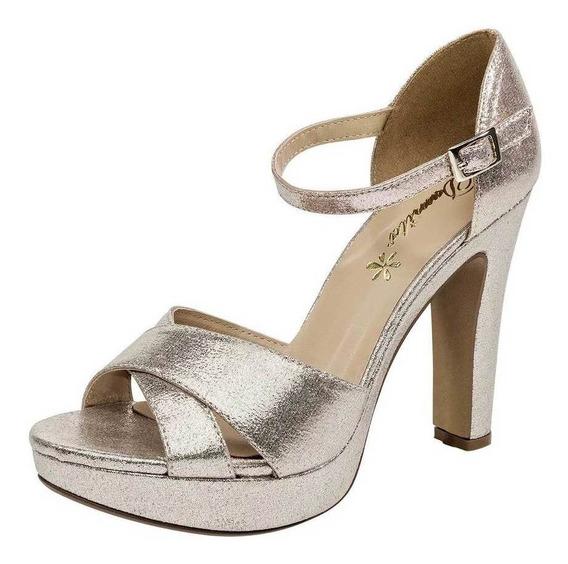 Zapato Damita 44007 Mujer Talla 22-26 Color Oro Pk-oi19