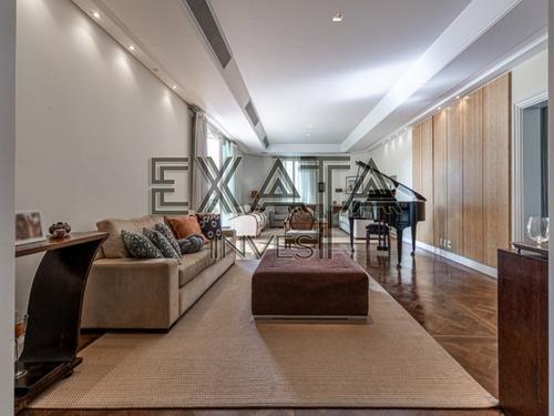 Imagem 1 de 30 de Apartamento Duplex Localizado Num Dos Endereços Mais Nobres De São Paulo - Vila Nova Conceição. Amplo E Confortável. Pé Direito Alto - Ap00866 - 69962028
