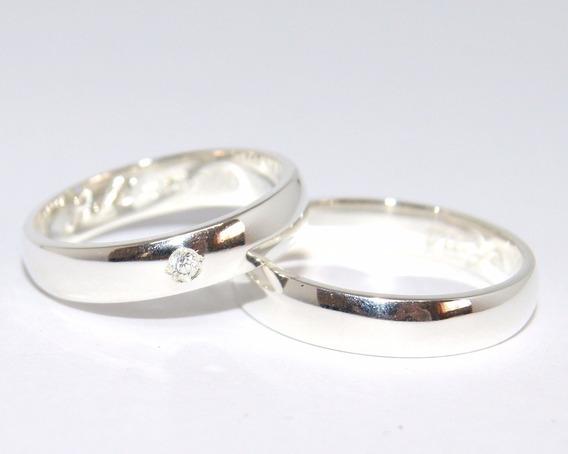 Alianças Prata Compromisso Namoro