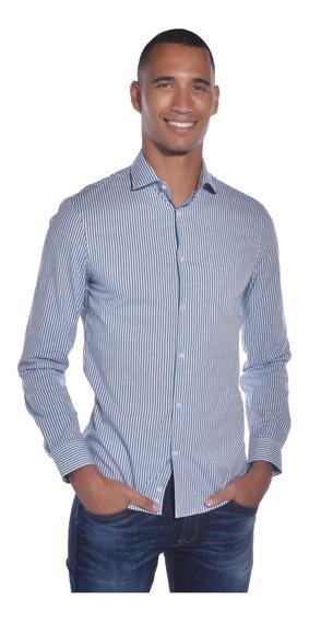 Camisa Extreme Slim Fit Calvin Klein Azul 17k4564-499 Hombre