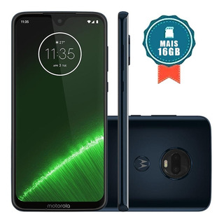 Moto G7 Plus 64gb 6.2 Dual Traseira16+5mp Índigo+sd 16gb+nf