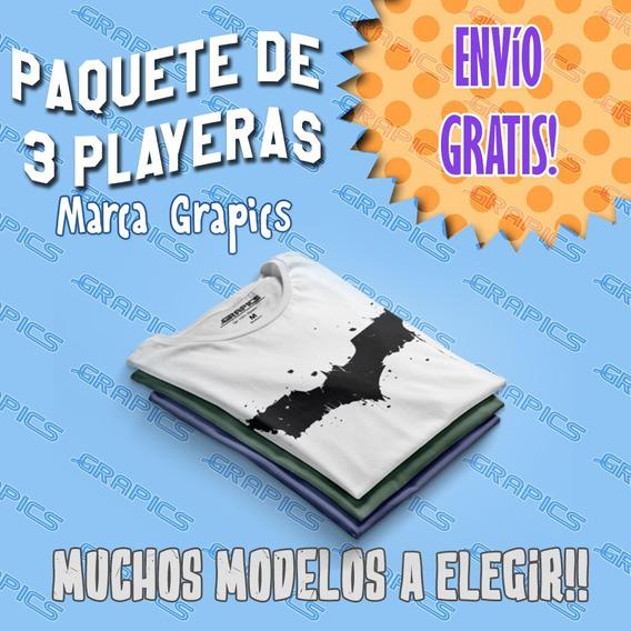 Playeras Grapics Paquete De 3 Modelos A Elegir Envio Gratis