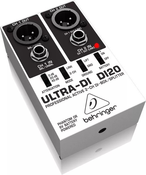 Behringer Di20 Direct Box Ativo 2 Canais Di 20 Original