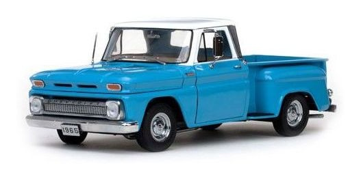 1965 Chevrolet Pickup C10 Stepside Azul - 1:18 - Sun Star