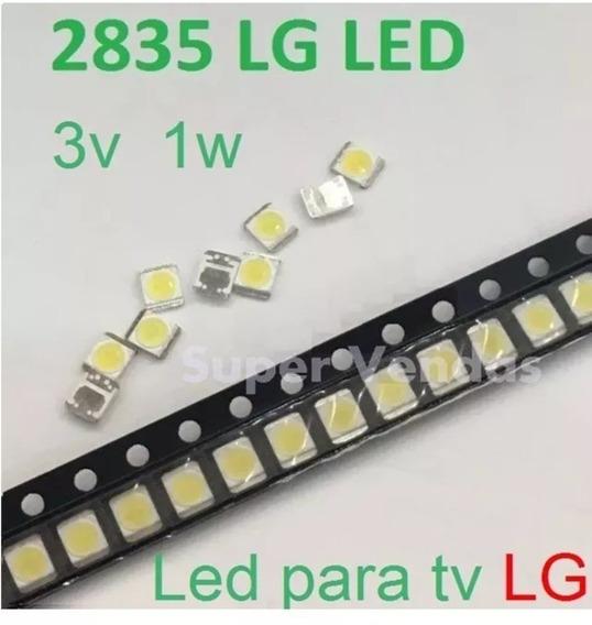 Led 2835-3v 1w Lote Com 20 Unid Original Tv