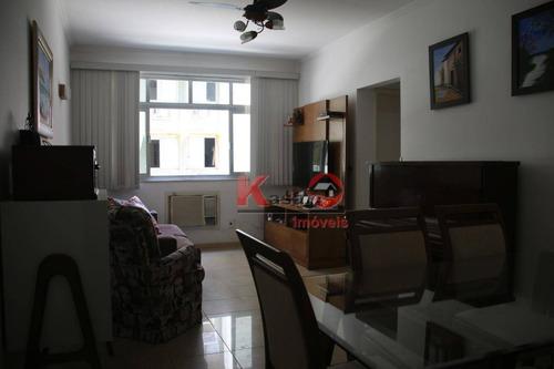 Imagem 1 de 24 de Apartamento Com 2 Dormitórios À Venda, 100 M² Por R$ 530.000,00 - Aparecida - Santos/sp - Ap9821