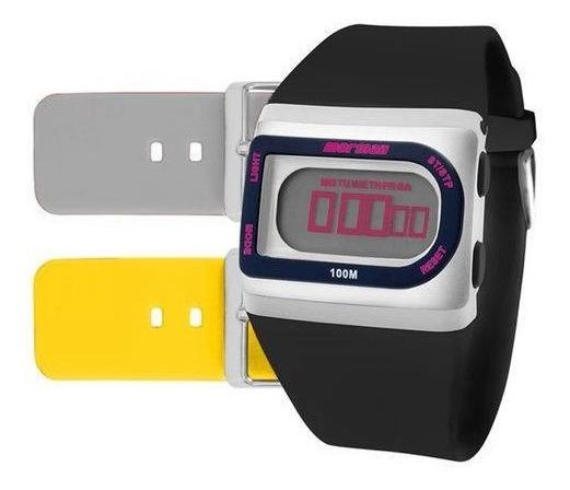 Relógio Mormaii Kit Digital Borracha Unissex Fzg/t8i