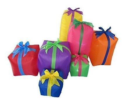Imagen 1 de 2 de 6 Pies Larga Cajas De Regalo Yarda Inflable De Navidad
