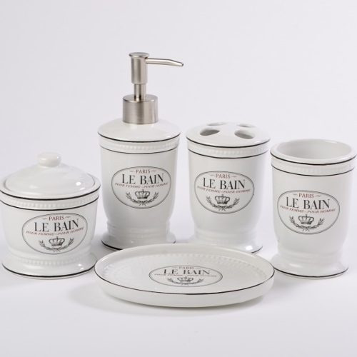 Imagen 1 de 4 de Set De Baño Le Bain - Blanco Këssa Muebles