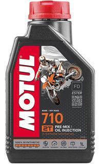 Aceite Para Moto Motul 2 Tiempos 710 Sintetico Trail 1l.