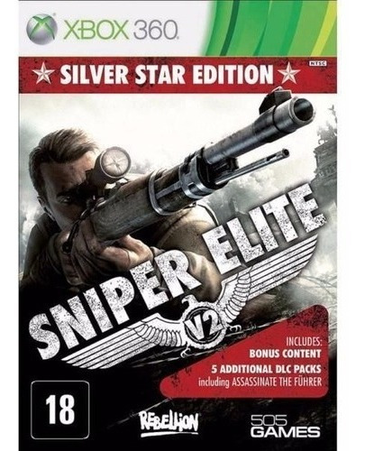 Sniper Elite V2 Silver Star Edition Xbox 360 Físico Novo Rj