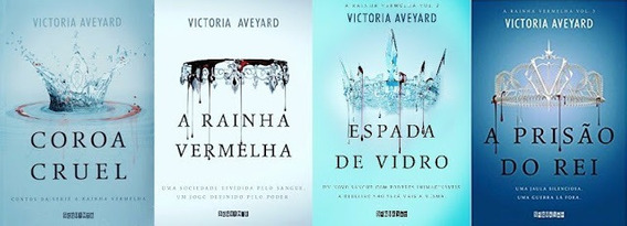 Kit 4 Livros A Rainha Vermelha Victoria Aveyard