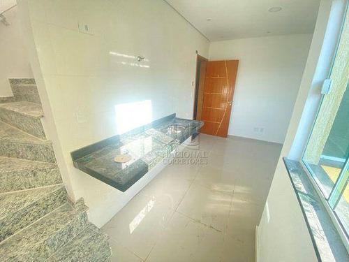 Cobertura Com 2 Dormitórios À Venda, 77 M² Por R$ 315.000,00 - Jardim Utinga - Santo André/sp - Co4830