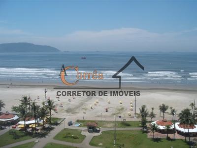 Lindo Apartamento, Frente Para O Mar, Na Praia Do Itararé-sp