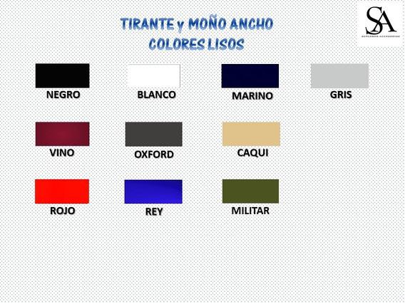 Set De Moño Y Tirantes Anchos 3.8cm