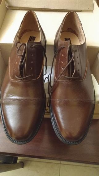 Zapatos De Cuero Talle 44 - Marrón Nuevos Sin Uso Alguno