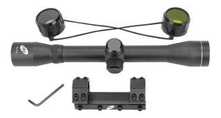 Luneta 4x32 Cbc 3/8 Trilho 11mm Com Suporte Mount Unico