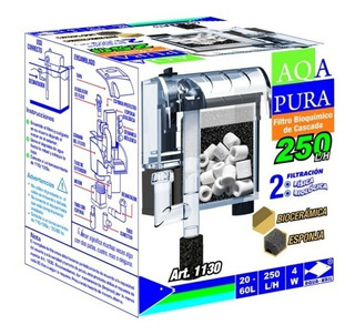 Filtro Externo Cascada Acuario Pecera 250 L/h 20-60 L 1130
