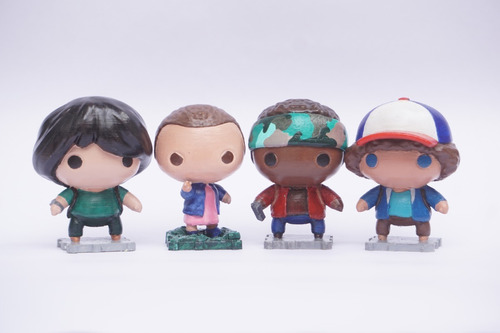 4 Figuras Stranger Once, Mike, Dustin, Lucas - Eleven
