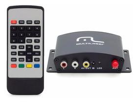 Receptor Conversor Tv Digital Automotivo Veicular Multilaser
