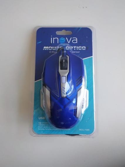 Novo Mouse Inova 6 Botões 800 Dpi